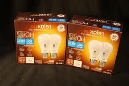Pair of GE General Electric Relax LED Soft White Bulb HD 60W