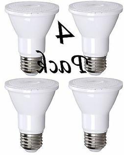 4 Pack Bioluz LED PAR20 7w  3000k 550 Lumen Dimmable Lamp -
