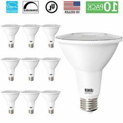 Sunco Lighting 10 Pack PAR30 LED Bulb, 11W=75W, Dimmable, 27