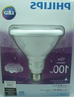 Philips 435016 15 Watt  Dimmable LED Flood Light Bulb 100W E