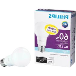 Philips A19 LED Light Bulb Daylight - Philips 60W Equivalent