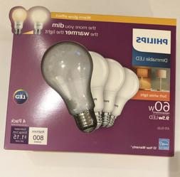 Phillips LED Dimmable A19 Light Bulb with Warm Glow Effect 8
