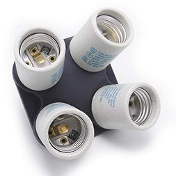 ETOPLIGHTING Porcelain Four Head Light Bulb Socket Splitter