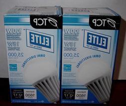 Qty. 2  TCP Elite: LED Light Bulbs:  LED18A21DOD27K  NEW  18