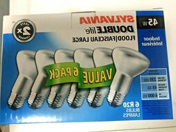 Sylvania 6 Pack R20 45W Indoor Double Life Flood Bulbs