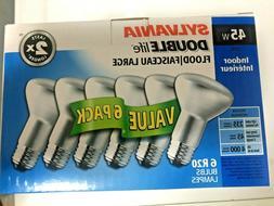 Sylvania 6 Pack R20 45W Indoor Double Life Flood Bulbs