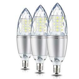 Rayhoo E12 Base LED Candelabra Light Bulbs Dimmable, 10 Watt