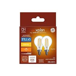 GE Relax 2-Pack 40 W Equivalent Dimmable Warm White A15 LED