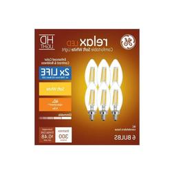 Ge Relax Led HD light bulb candelabra base Dimmable Soft Whi
