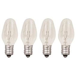 4-Pack 15 Watts Replacement Bulbs for Plug-in Nightlight War