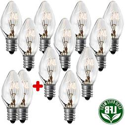 Replacement Light Bulbs for Electric Window Candle Lamps & C