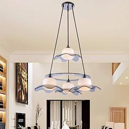 The restaurant is light chandeliers minimalist modern creati