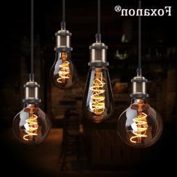Retro Vintage Edison LED Soft Filament Light Bulbs E27 ST64