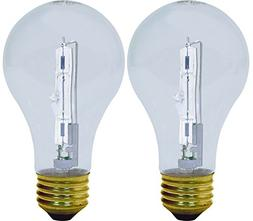 Ge Reveal Halogen Bulb 72 W 100 W Medium Base  Pack / 2