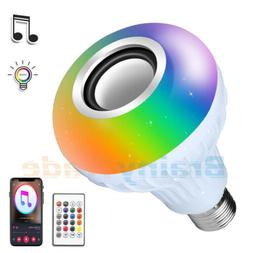 AGPtek Bluetooth Speaker Light Bulb E27 Smart LED RGB Color