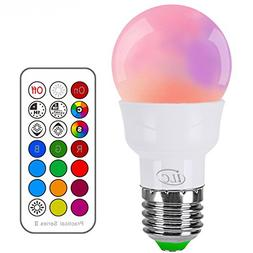 iLC RGB LED Light Bulb, Color Changing Light Bulb Dimmable 3