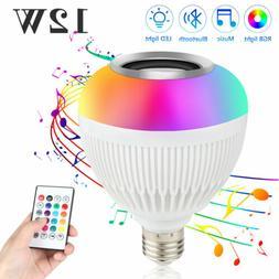 12W RGB White LED Bluetooth Bulb Light Speaker Smart Music P