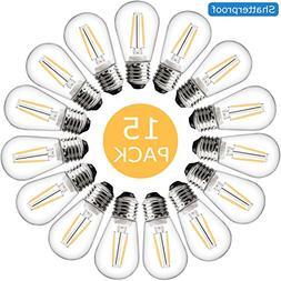 Muslish S14 LED Bulb 1.5W, 2200K Warm White Vintage Edison L