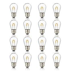 Newhouse Lighting 1-Watt S14 LED Bulb with Curved Filament f