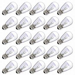S14 Bulbs by Deneve, 11 Watts, Clear Glass S14 Incandescent