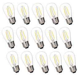Aplstar 2W S14 LED Dimmable Bulb, for Outdoor String Lights
