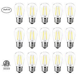 S14 LED Filament Bulbs 2W, Vintage Edison Led Light Bulbs,20