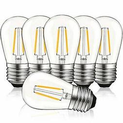 Luxrite S14 LED Edison Light Bulbs 2W Dimmable Warm White 20