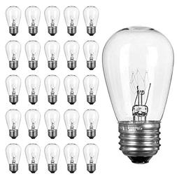 Pack of 26pcs S14 Light Bulbs for String Lights -11 Watt E26