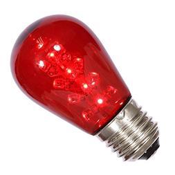 s14 red transparent plastic bulb