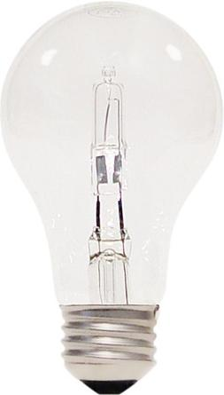 Satco S2403 53w 120v A-Shape A19 Clear eXcel Dimmable Haloge
