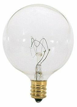 Satco S3831 120V 60 Watt G16.5 Candelabra Base Light Bulb, C