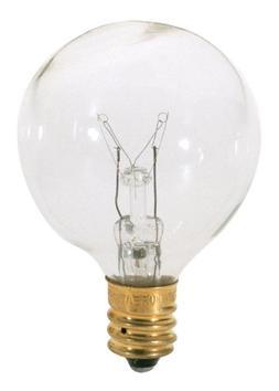 Satco S3847 120V Candelabra Base 40-Watt G12.5 Light Bulb, C