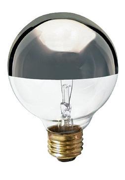 Satco S3860 120V Medium Base 25-Watt G25 Light Bulb, Silver