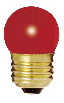 Satco S4511 7.5W 120V S11 Ceramic. Red E26 Base Incandescent