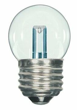 Satco S9160 LED S11 Clear 2700K Medium Base Light Bulb, 1.2W