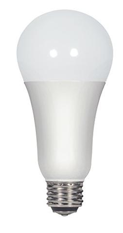 Satco S9372 A21 LED 3-Way Frosted 4000K Medium Double Contac
