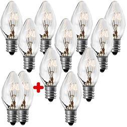 Salt Rock Lamp Bulb 10 Pack + 2 FREE 15 Watt Replacement Bul