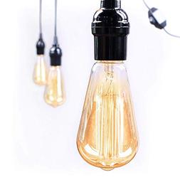 Antique Vintage 6-Pack Edison Light Bulbs - Dimmable 60watts