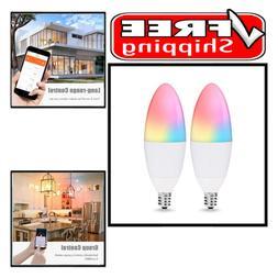 smart bulb e12 led candelabra base wifi