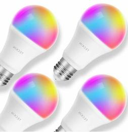 Smart LED Light Bulb 4-Pack Multicolor Dimmable Works with A