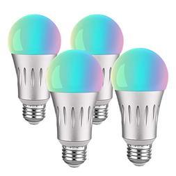 Brizled 4 Pack Smart LED Light Bulb, A19 60W Equivalent Smar