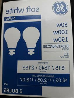 'GE' Soft White  Light Bulbs // 50/100/150w //  //