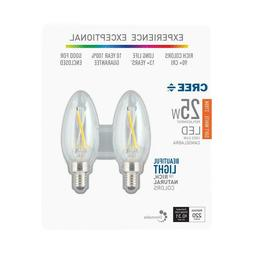 Cree Soft White Candelabra Dimmable E12 LED Light Bulb