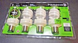 EcoSmart Soft White Compact Fluorescent  Light Bulbs 4-Pack,