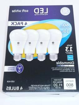 GE Lighting Soft White Dimmable LED A19 Light Bulb with Medi