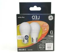 GE Soft White LED Ceiling Fan Bulbs 40W Uses 4W Frosted A15