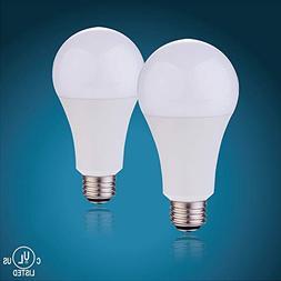 2700K Soft White, YAMAO 2PK A21 3-Way LED Light Bulb 50w/100