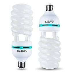 Emart Full Spectrum Light Bulb, 2 x 105W 5500K CFL Daylight