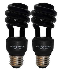 SleekLighting 13 Watt Spiral CFL Black Florescent Light Bulb
