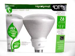 TCP SPRINGLIGHT 2 PACK OF 65W FLOOD LIGHT BULBS